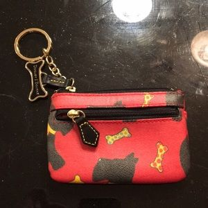 Dooney & Bourke Red dog coin purse